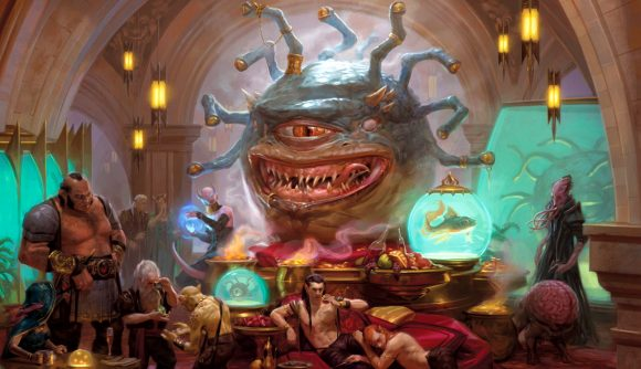 MTG Forgotten Realms future DnD crossover sets Xanathar surrounded by people