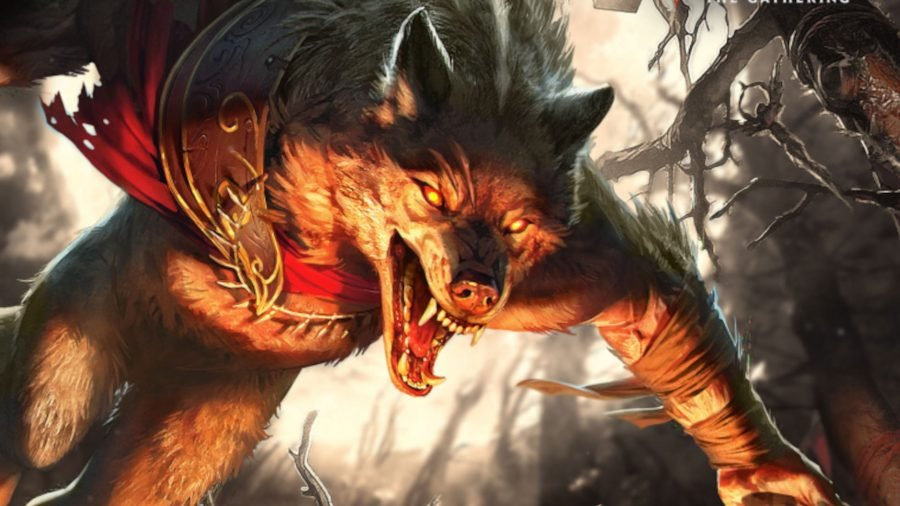 MTG Sets a werewolf pouncing forward
