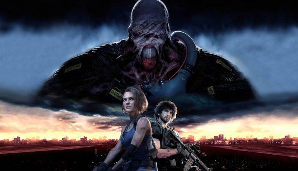 Resident Evil 3 board game nemesis looming over jill