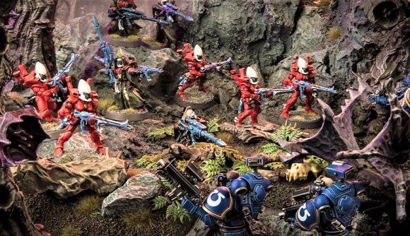 Warhammer 40k Kill Team 2.0 new releases roadmap warhammer community photo showing Eldar Guardians fighting Space Marines