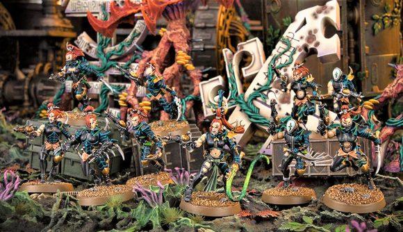 Warhammer 40k Kill Team Spec Ops Crusade crossover Warhammer Community photo showing a Drukhari kill team