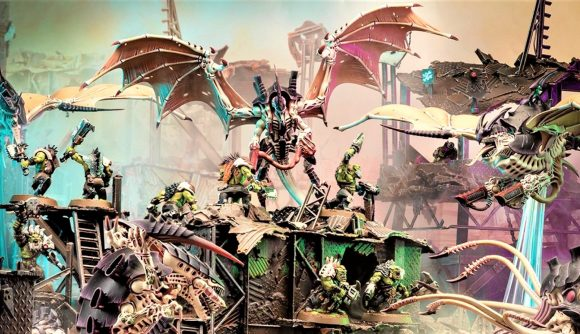 Warhammer 40k Tyranids synapse abilities in War Zone Octarius Warhammer Community photo showing Tyranid models led by a Winged Hive Tyrant