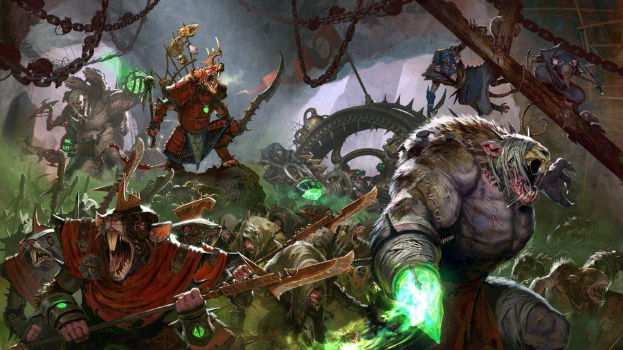 Warhammer Age of Sigmar Skaven faction guide Games Workshop artwork showing rat ogres, stormvermin and skaven units