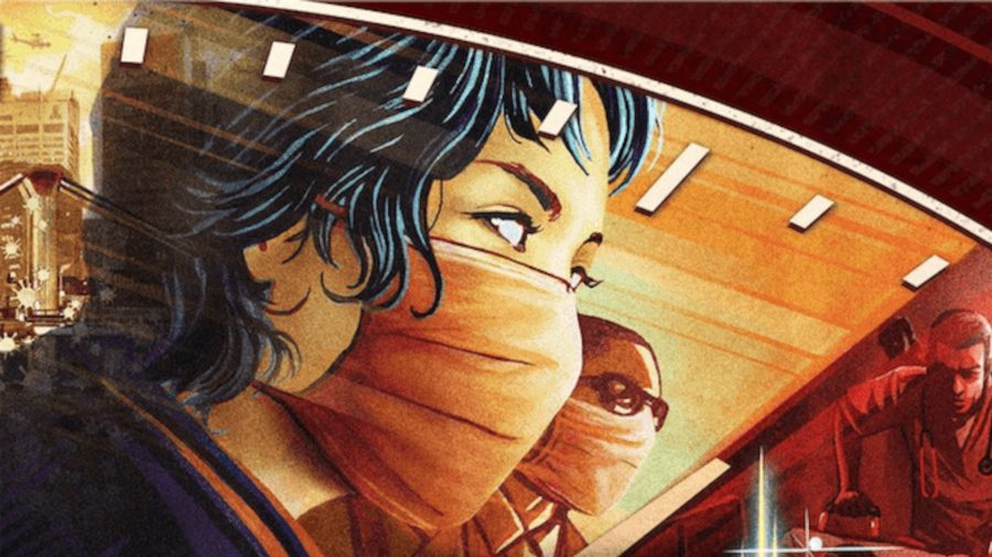 2-player board games a nurse wearing a face mask on the cover of Pandemic Legacy