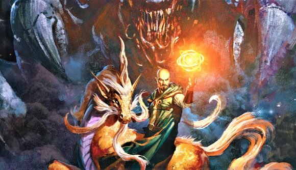 D&D Monsters of the Multiverse book release date - Wizards of the coast cover artwork for the standard edition Mordenkainen Presents Monsters of the Multiverse sourcebook, showing Mordenkainen