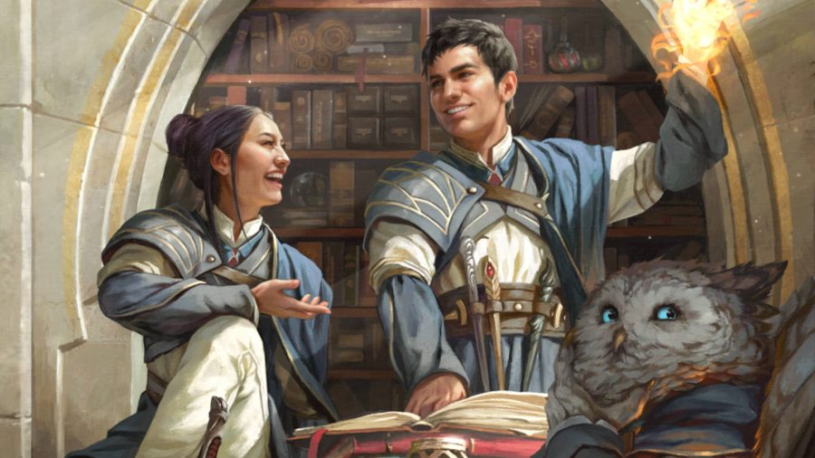 D&D Strixhaven: A Curriculum of Chaos release date two mages in a library