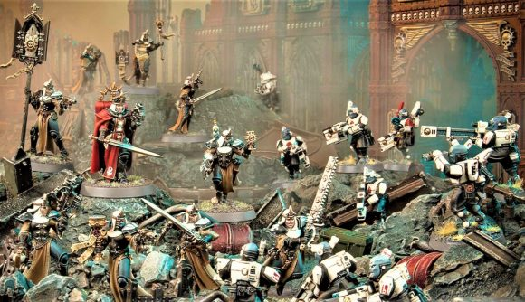 Kill Team: Chalnath box set pits T'au Pathfinders against Sisters of Battle