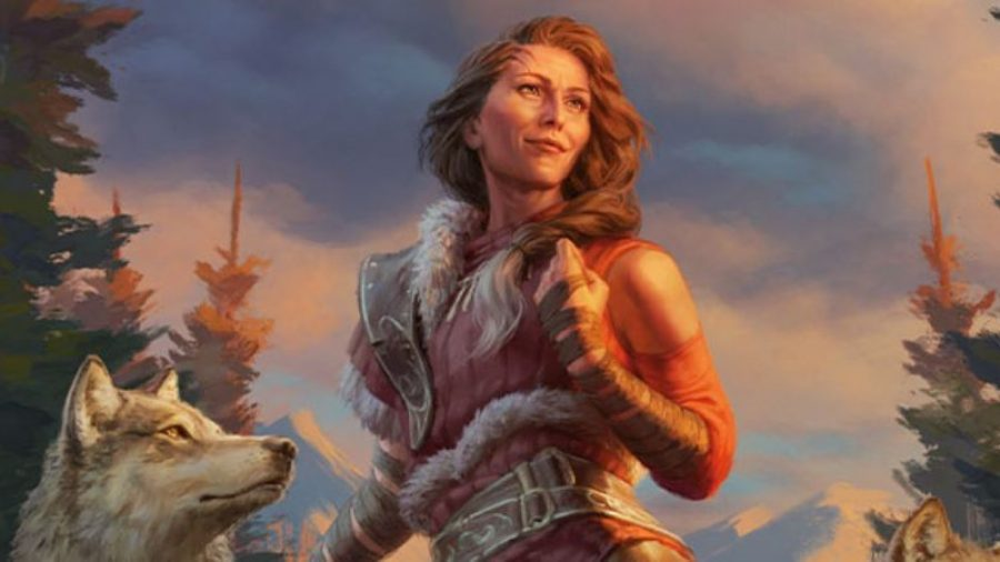 Magic: The Gathering Innistrad: Midnight Hunt best spoilers 09/02/21 - enlarged card art image for Arlinn, the Pack's Hope