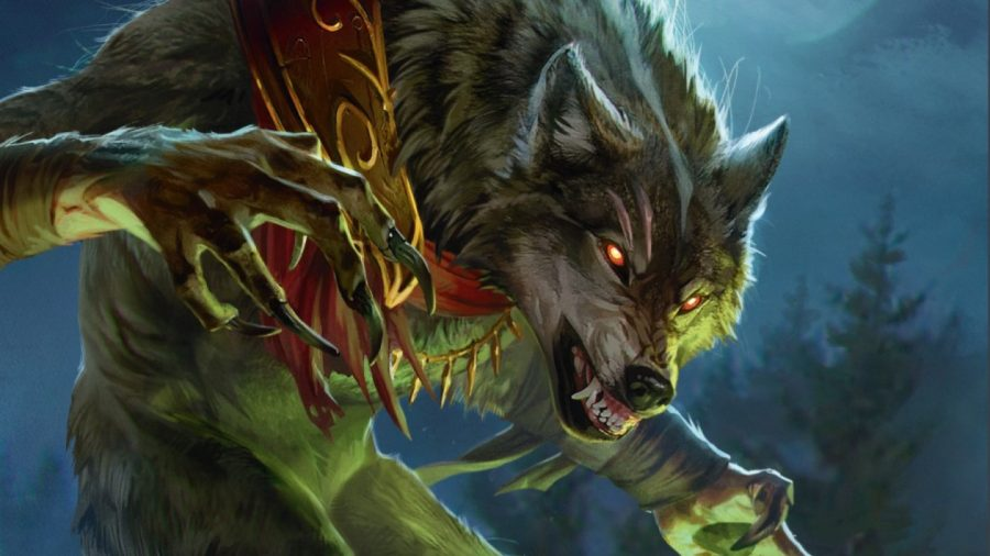 Magic: The Gathering Innistrad Midnight Hunt spoilers of the weekend - artwork showing a werewolf