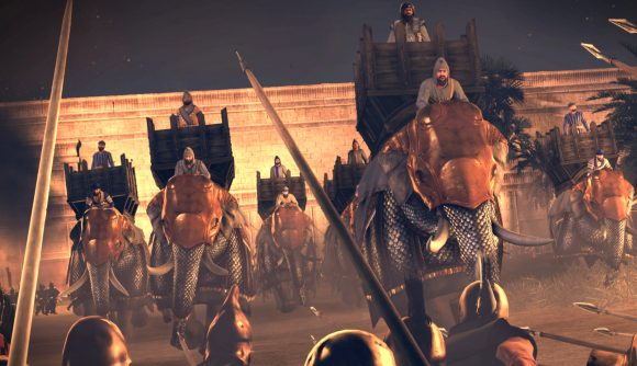 Total War: Rome The Board Game expansions army packs war elephants riding into battle