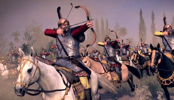 Total War: ROME: Board Game a cavalry archer firing a bow