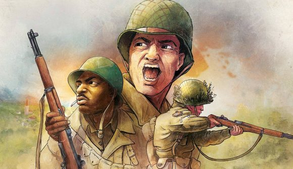 Undaunted Reinforcements sequel release date cover art showing three WW2 soldiers