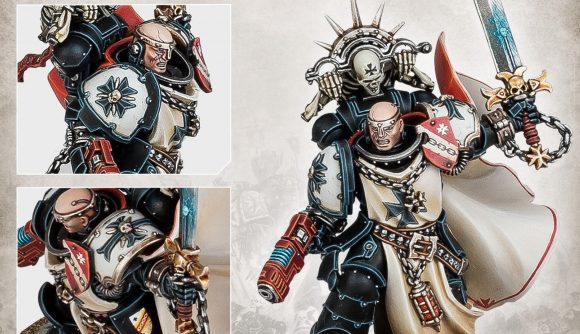 Warhammer 40k Black Templars army set reveal - Warhammer Community photo showing close up images of the new Marshal model