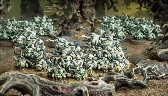 Warhammer 40k Wrath & Glory Lord of the Spire adventure has thousands of Nurglings - Warhammer Community photo showing Nurglings models