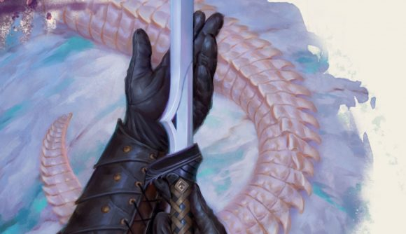 Dungeons and Dragons Fizban's Treasury of Dragons preview a magical sword and a dragon's tail