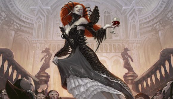 Magic: The Gathering Innistrad: Crimson Vow a vampire holding a chalice of blood