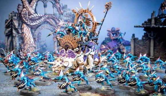 Warhammer Age of Sigmar Seraphon Battletome Update - Warhammer Community photo of Seraphon models including Stegadons