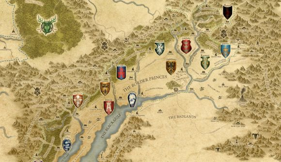Warhammer: The Old World map of the Border Princes and its houses
